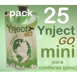 Pack 25 Ynject Go mini (pino)