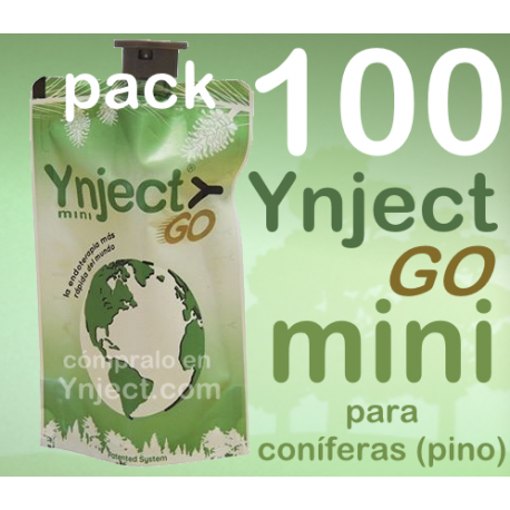 Pack 100 Ynject Go mini (pino)