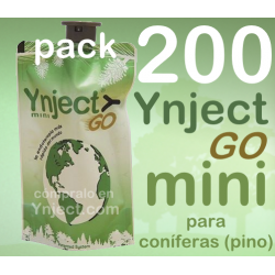 Pack 200 Ynject Go mini (pino)