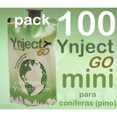 Pack 100 Ynject Go mini (pino)